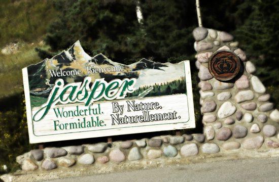 Jasper welcome sign Ceremony locations in Jasper