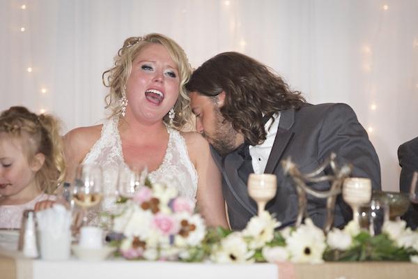 Darby and Matthew at their Wedding Venue in Jasper